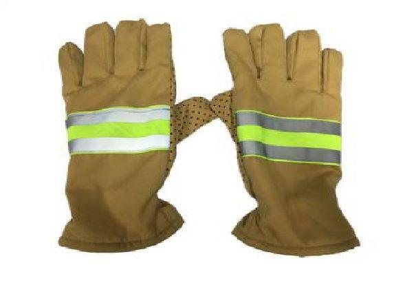 Găng tay chữa cháy vàng cát loại không hạt