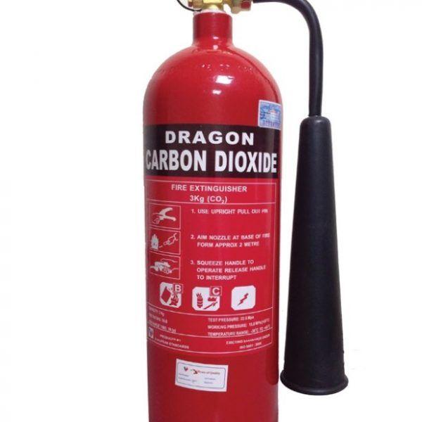 Bình chữa cháy DRAGON khí CO2 2kg Việt Nam