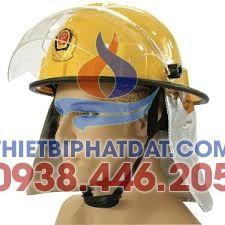 Mũ Chống Cháy Hàn Quốc Có Đèn (Vàng)