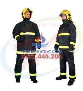 Quần Áo Chống Cháy Nomex 2 Lớp Xanh Đen